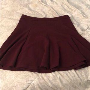 Burgundy high waisted skirt from Nordstrom